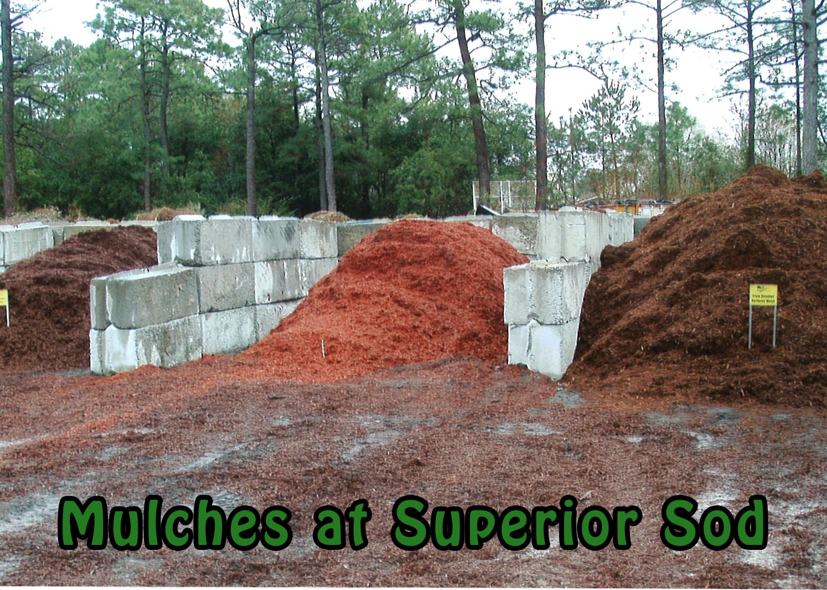 Mulch sold at Superior Sod
